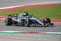 October 21, 2018 - Austin, TX, U.S. - AUSTIN, TX - OCTOBER 21: Mercedes driver Lewis Hamilton (44) of Great Britain enters a turn during the F1 United States Grand Prix on October 21, 2018, at Circuit of the Americas in Austin, TX. (Photo by Ken Murray/Icon Sportswire) (Credit Image: © Ken Murray/Icon SMI via ZUMA Press)