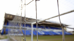 A general view of detail of the goal net at the Weston Homes stadium, home of Peterborough United - Mandatory by-line: Joe Dent/JMP - 20/02/2021 - FOOTBALL - Weston Homes Stadium - Peterborough, England - Peterborough United v AFC Wimbledon - Sky Bet League One