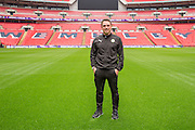 Caretaker manager Scott Bartlett Forest Green Rovers Football Club Familiarisation visit to Wembley Stadium, London, England on 10 May 2016. Photo by Shane Healey.