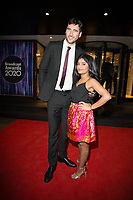 Haiesha Mistry, Jacob Roberts,  at the Broadcast Awards, Grosvenor Hotel London. 05.02.20