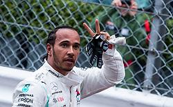 May 26, 2019 - Montecarlo, Monaco - The winner Lewis Hamilton after the race at Formula 1 Grand Prix de Monaco on May 26, 2019 in Monte Carlo, Monaco. (Credit Image: © Robert Szaniszlo/NurPhoto via ZUMA Press)