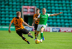 Alloa Athletic's Liam Dick and Hibernian's Fraser Murray. Hibernian 2 v 0 Alloa Athletic, Betfred Cup game played Saturday 20th July at Easter Road, Edinburgh.