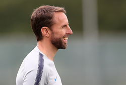 England manager Gareth Southgate during the training session at the Spartak Zelenogorsk Stadium, Repino.