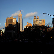 The Empire State Building in the late afternoon sunshine. Manhattan, New York. USA. 25th November 2012. Photo Tim Clayton