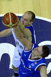06-09-2006 BASKETBAL: NEDERLAND - SLOWAKIJE: GRONINGEN<br /> De basketballers hebben ook de tweede wedstrijd in de kwalificatiereeks voor het Europees kampioenschap in winst omgezet. In Groningen werd een overwinning geboekt op Slowakije: 71-63 / Peter van Paassen<br /> ©2006-WWW.FOTOHOOGENDOORN.NL