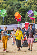 The sun comes out in the Arena - The 2018 Latitude Festival, Henham Park. Suffolk 13 July 2018