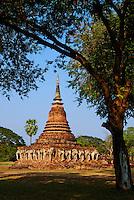 Thailande, province de Sukhothai, parc archeologique de Sukhothai, Wat Sorasak // Thailand, Sukhothai, Sukhothai Historical Park, Wat Sorasak