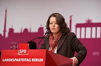 DEU, Deutschland, Germany, Berlin, 27.10.2012:<br />Landesparteitag der Berliner SPD im Berliner Congress Center (BCC) am Alexanderplatz. Rede von Ülker Radziwill (SPD).