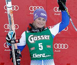 28-12-2011 SKIEN: FIS WORLD CUP: LIENZ<br /> Tessa Worley (FRA) // during Giant Slalom first Run at FIS Ski Worldcup at Worldcupcourse Hochstein in Lienz<br /> **NETHERLANDS ONLY** <br /> ©2011-FotoHoogendoorn.nl/EXPA/Oskar Hvaher