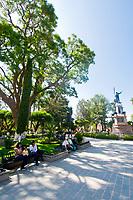 Statue of Miguel Hidalgo, Plaza Principal, Dolores Hidalgo, Guanajuato State, Mexico