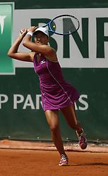 May 24, 2018 - Paris, France - Match de qualification de Harmony Tan (FRA) sur le court 7. (Credit Image: © Panoramic via ZUMA Press)