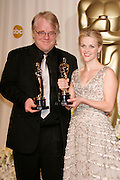 Mar 05, 2006; Hollywood, CA, USA; OSCARS 2006: <br /> <br /> Best Actor' PHILIP SEYMOUR HOFFMAN and 'Best Actress' REESE WITHERSPOON in the press room at the 78th Annual Academy Awards held at the Kodak Theater in Hollywood<br /> ©Exclusivepix