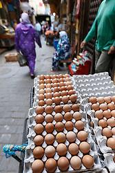 Egg in market, Fes al Bali medina, Fes, MoroccoEggs