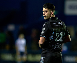 Adam Hastings of Glasgow Warriors<br /> <br /> Photographer Simon King/Replay Images<br /> <br /> Guinness PRO14 Round 15 - Cardiff Blues v Glasgow Warriors - Saturday 16th February 2019 - Cardiff Arms Park - Cardiff<br /> <br /> World Copyright © Replay Images . All rights reserved. info@replayimages.co.uk - http://replayimages.co.uk