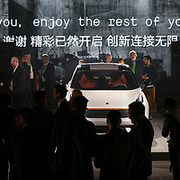 Press view of the 01 car during its launch in Berlin.China's Geely, owner of Volvo Cars and London Taxi Company, launch a new brand LYNK & CO to the world's media - with the 'world's most connected car'.Photograph David Cheskin.19.10.2016.