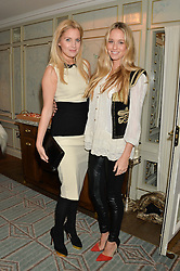 Left to right, MARISSA MONTGOMERY and FLORENCE BRUDENELL-BRUCE at the launch of Mrs Alice in Her Palace - a fashion retail website, held at Fortnum & Mason, Piccadilly, London on 27th March 2014.