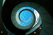 Florida, Saint Petersburg, New Salvador Dali Museum, Triangular Glass Architecture Referred To As The 'Glass Enignma', Homage To Buckminster Fuller's Geodesic Domes, Spiral Staircase In The Shape Of A DNA Sequence