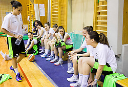 Niak Baric and other players during practice session of Slovenian Women Basketball Team, on May 14, 2014 in Arena Vitranc, Kranjska Gora, Slovenia. Photo by Vid Ponikvar / Sportida