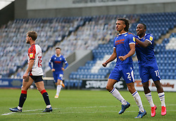 Miles Welch-Hayes of Colchester United celebrates scoring to make it 3-2 - Mandatory by-line: Arron Gent/JMP - 03/10/2020 - FOOTBALL - JobServe Community Stadium - Colchester, England - Colchester United v Oldham Athletic - Sky Bet League Two