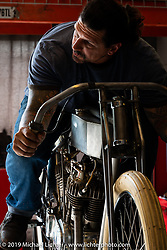 Billy Lane in his shop. Ormond Beach, FL, USA. May 17, 2016.  Photography ©2016 Michael Lichter.