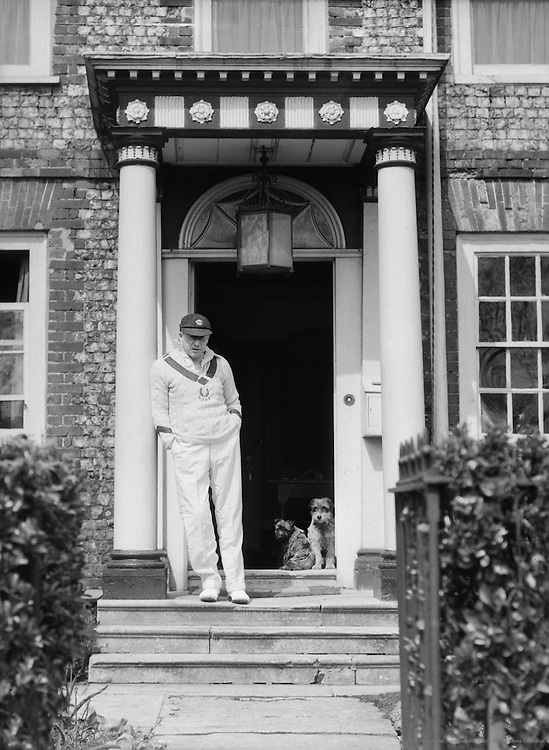 SPB Mais in Doorway, at Southwick, Sussex, England, 1932