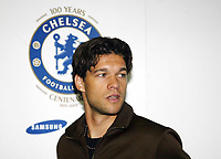 Photo: Chris Ratcliffe.<br />Chelsea Press Conference. 15/05/2006.<br />Michael Ballack is introduced to the media as he signs for Chelsea.