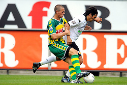 22-07-2009 VOETBAL: ADO DEN HAAG - VALENCIA CF: DEN HAAG<br /> Valencia wint met 4-1 van Den Haag / Asier Del Horno Cosgaya en Wesley Verhoek<br /> ©2009-WWW.FOTOHOOGENDOORN.NL