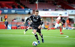 Tyler Frost of Crawley Town runs with the ball- Mandatory by-line: Nizaam Jones/JMP - 10/10/2020 - FOOTBALL - Jonny-Rocks Stadium - Cheltenham, England - Cheltenham Town v Crawley Town - Sky Bet League Two