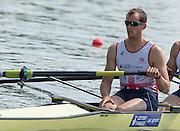 Poznan, POLAND. GBR M4-, Scott DURANT. 2015 FISA European Rowing Championships. Venue, Lake Malta. Saturday 30.05.2015. [Mandatory Credit: Peter Spurrier/Intersport Images] .   Empacher.