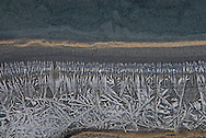 Ice forms along the edges of the Zanskar River as early as October.