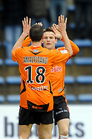 FOOTBALL - FRENCH CHAMPIONSHIP 2009/2010 - L1 - FC LORIENT v AS SAINT ETIENNE - 28/03/2010 - PHOTO PASCAL ALLEE / DPPI -  JOY MORGAN AMALFITANO AFTER HIS GOAL. HE IS CONGRATULATED BY KEVIN GAMEIRO (FCL)