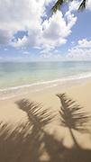 Kaaawa Beach Park, Oahu, Hawaii, shadow