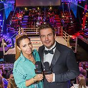 NLD/Amsterdam/20181031 - Boxingstars 2018, 1e aflevering, Olcay Gulsen en Ruben Nicolai