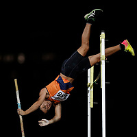 Chan Sheng Yao of National University of Singapore in action during the men's pole vault event. (Photo © Lim Yong Teck/Red Sports) The 2018 Institute-Varsity-Polytechnic Track and Field Championships were held over three days in January.<br /> <br /> Story: https://www.redsports.sg/2018/01/15/ivp-day-one/<br /> <br /> Story: https://www.redsports.sg/2018/01/18/ivp-day-two/<br /> <br /> Story: https://www.redsports.sg/2018/01/23/ivp-day-three/