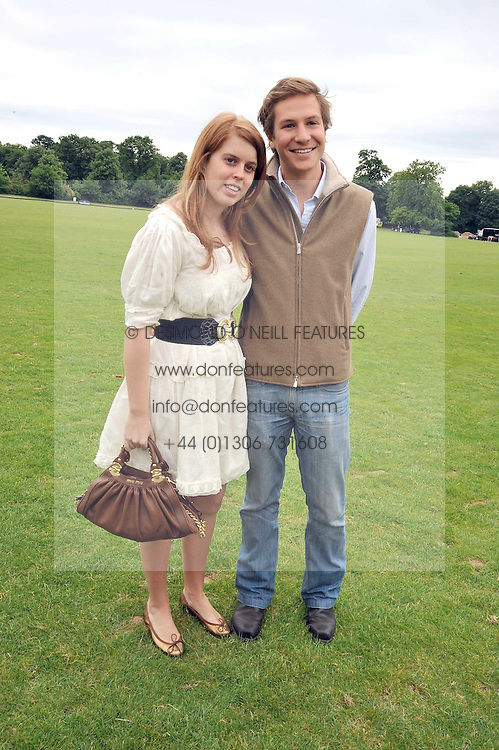 PRINCESS BEATRICE OF YORK and DAVE CLARK at a charity polo match organised by Jaeger Le Coultre was held at Ham Polo Club, Richmond, Surrey on 12th June 2009.
