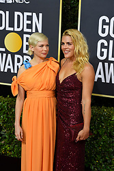 January 5, 2020, Beverly Hills, California, USA: MICHELLE WILLIAMS AND BUSY PHILIPPS during red carpet arrivals for the 77th Annual Golden Globe Awards, at The Beverly Hilton Hotel. (Credit Image: © Kevin Sullivan via ZUMA Wire)