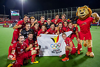 ANTWERPEN -  Belgie plaats zich als winnaar van het EK voor de Olympische Spelen in Tokio.   na de  finale mannen  Belgie-Spanje (5-0)  bij het Europees kampioenschap hockey. Belgie kampioen.  COPYRIGHT KOEN SUYK
