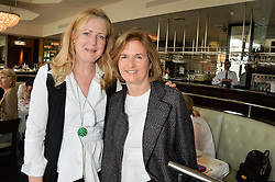 Left to right, MARIE-CLAIRE AGNEW and CATHERINE PAWSON at a ladies lunch in aid of the charity Maggie's held at Le Cafe Anglais, 8 Porchester Gardens, London on 29th April 2014.