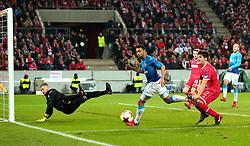 Francis Coquelin of Arsenal sees his shot rebound off the post - Mandatory by-line: Robbie Stephenson/JMP - 23/11/2017 - FOOTBALL - RheinEnergieSTADION - Cologne,  - Cologne v Arsenal - UEFA Europa League Group H