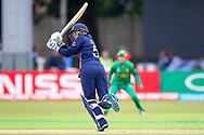 England womens cricket player Heather Knight (capt) hits a boundary during the ICC Women's World Cup match between England and Pakistan at the Fischer County Ground, Grace Road, Leicester, United Kingdom on 27 June 2017. Photo by Simon Davies.