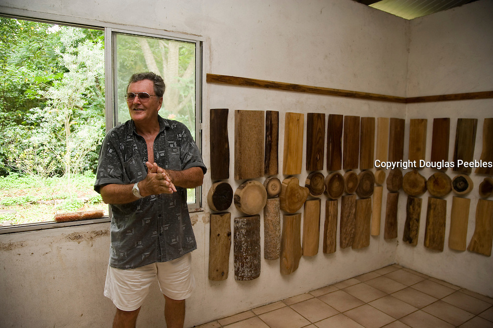 Mayor Leon Lichtle, Vaipaee Community Botanical Garden, Ua Huka, Marquesas Islands, French Polynesia, (Editorial use only)<br />
