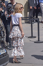 Vanessa Paradis arriving at the Chanel show during Haute Couture Paris Fashion Week Fall/Winter 2018/19 in Paris, France on July 03, 2018. Photo by Julien Reynaud/APS-Medias/ABACAPRESS.COM