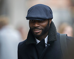© Licensed to London News Pictures. 12/12/2016. London, UK. Steve Sodje arrives at the Old Bailey. Former Premier League player Sam Sodje and three of his brothers have been charged with fraudulent trading in connection with their Sodje Sports Foundation charity. Photo credit: Peter Macdiarmid/LNP