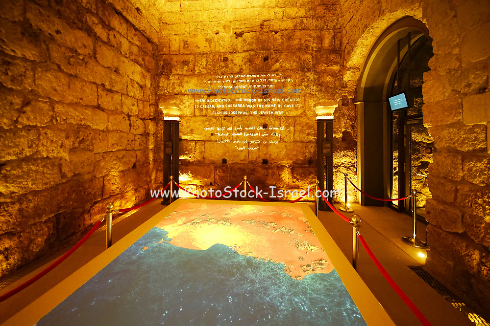 Israel, Caesarea Exhibits in the interior of the New Museum building
