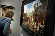 The Adoration of the Magi by Van Nieulat the Younger - Frieze Masters 2014 - including a huge range of works from religious relics, through old masters to contemporary art with prices upto millions of pounds. Regents Park, London, 14 Oct 2014.
