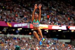 Brazil's Eliane Martins in action in the Women's Long Jump final during day eight of the 2017 IAAF World Championships at the London Stadium. PRESS ASSOCIATION Photo. Picture date: Friday August 11, 2017. See PA story ATHLETICS World. Photo credit should read: Adam Davy/PA Wire. RESTRICTIONS: Editorial use only. No transmission of sound or moving images and no video simulation.