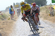 Greg Van Avermaet (BEL - BMC) during the 105th Tour de France 2018, Stage 9, Arras Citadelle - Roubaix (156,5km) on July 15th, 2018 - Photo Kei Tsuji / BettiniPhoto / ProSportsImages / DPPI