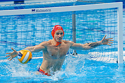 Theodorus Huijsmans #13 of Netherlands during Netherlands vs Malta on LEN European Aquatics Waterpolo January 21, 2020 in Duna Arena in Budapest, Hungary