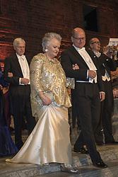 Anneli Holmstrˆm, Urban Ahlin <br /> <br />  <br /> <br />  beim Nobelbankett 2016 im Rathaus in Stockholm / 101216 <br /> <br /> <br /> <br /> ***The Nobel banquet, Stockholm City Hall, December 10th, 2016***