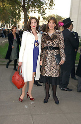 Left to right, sisters the HON.FLORA RYCROFT and SAMANTHA CAMERON at the wedding of Clementine Hambro to Orlando Fraser at St.Margarets Westminster Abbey, London on 3rd November 2006.<br /><br />NON EXCLUSIVE - WORLD RIGHTS